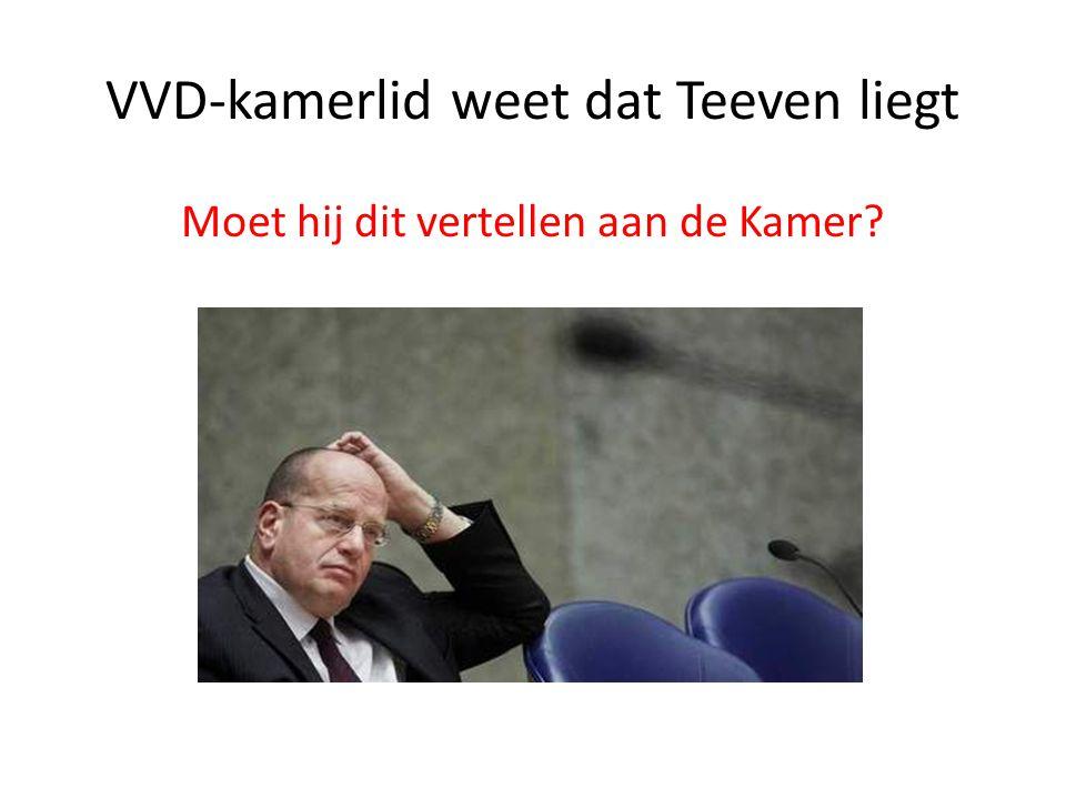 VVD-kamerlid weet dat Teeven liegt