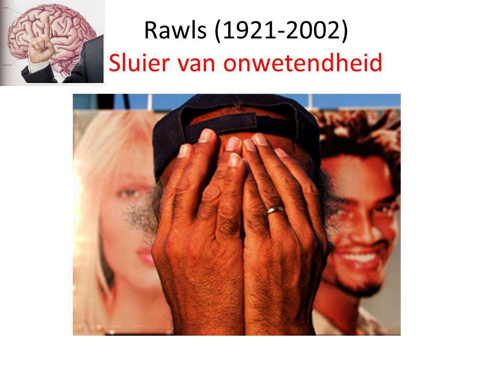 Rawls (1921-2002) Sluier van onwetendheid