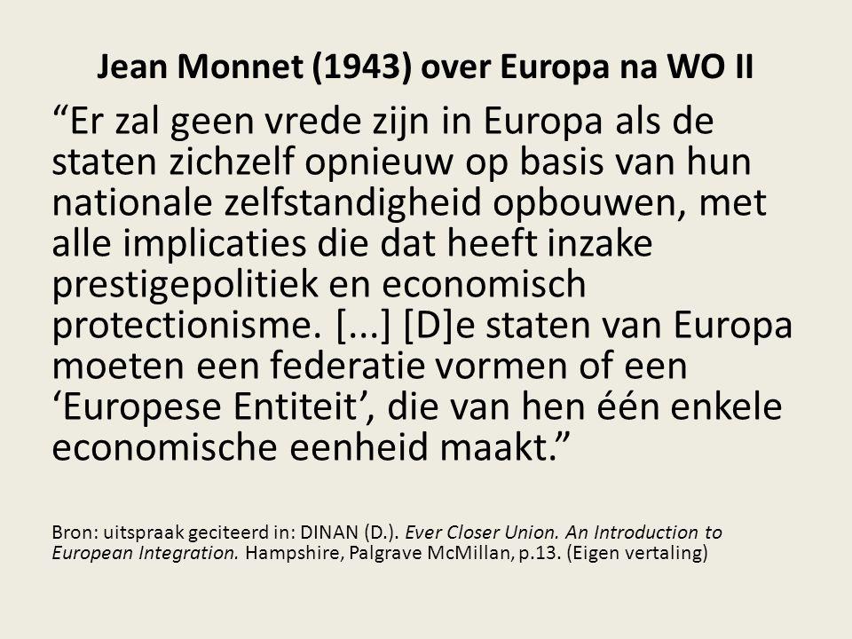 Jean Monnet (1943) over Europa na WO II