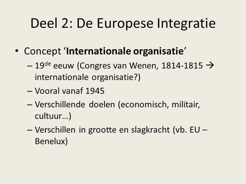 Deel 2: De Europese Integratie