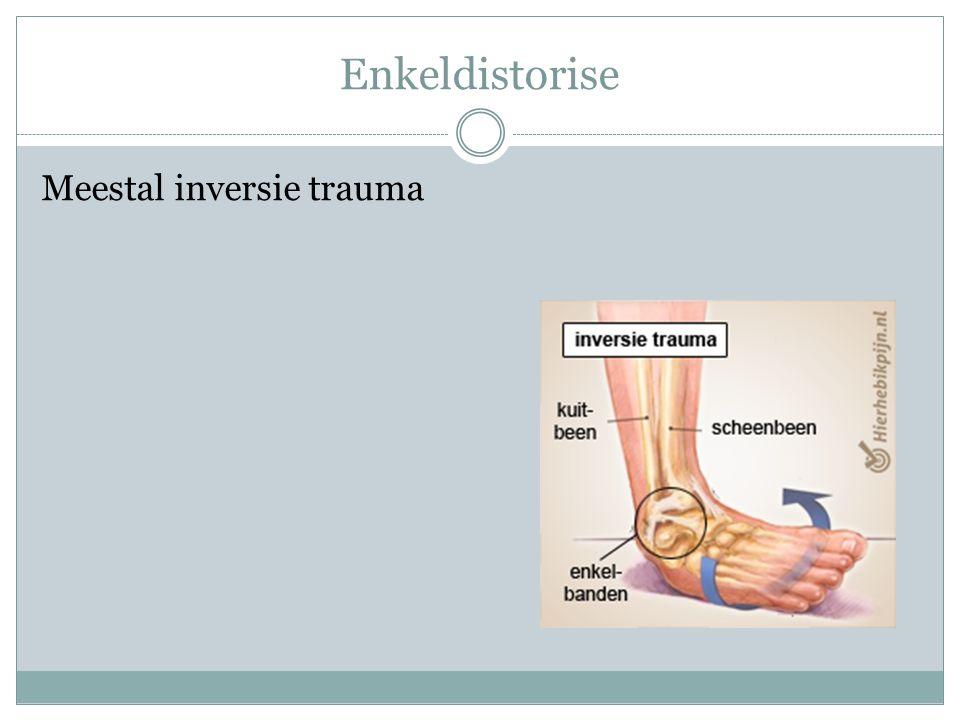 Enkeldistorise Meestal inversie trauma