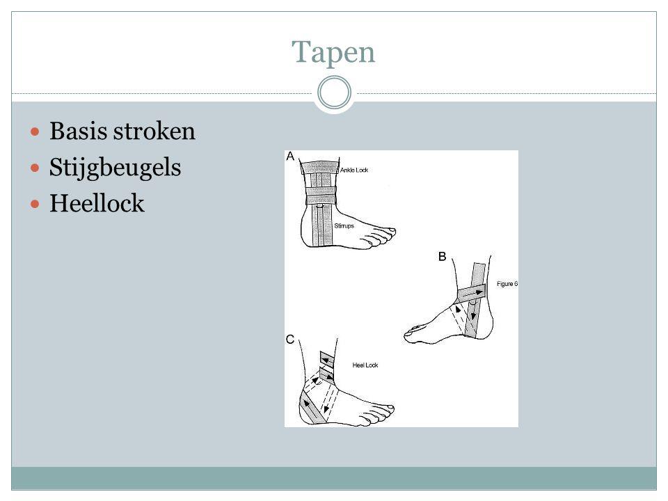 Tapen Basis stroken Stijgbeugels Heellock