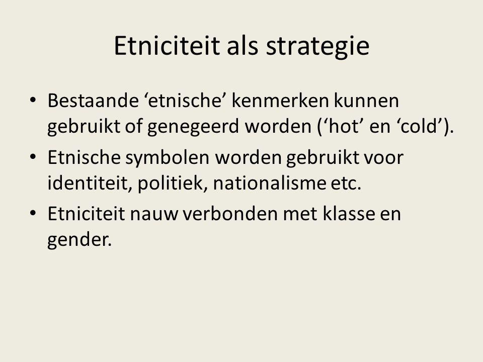 Etniciteit als strategie