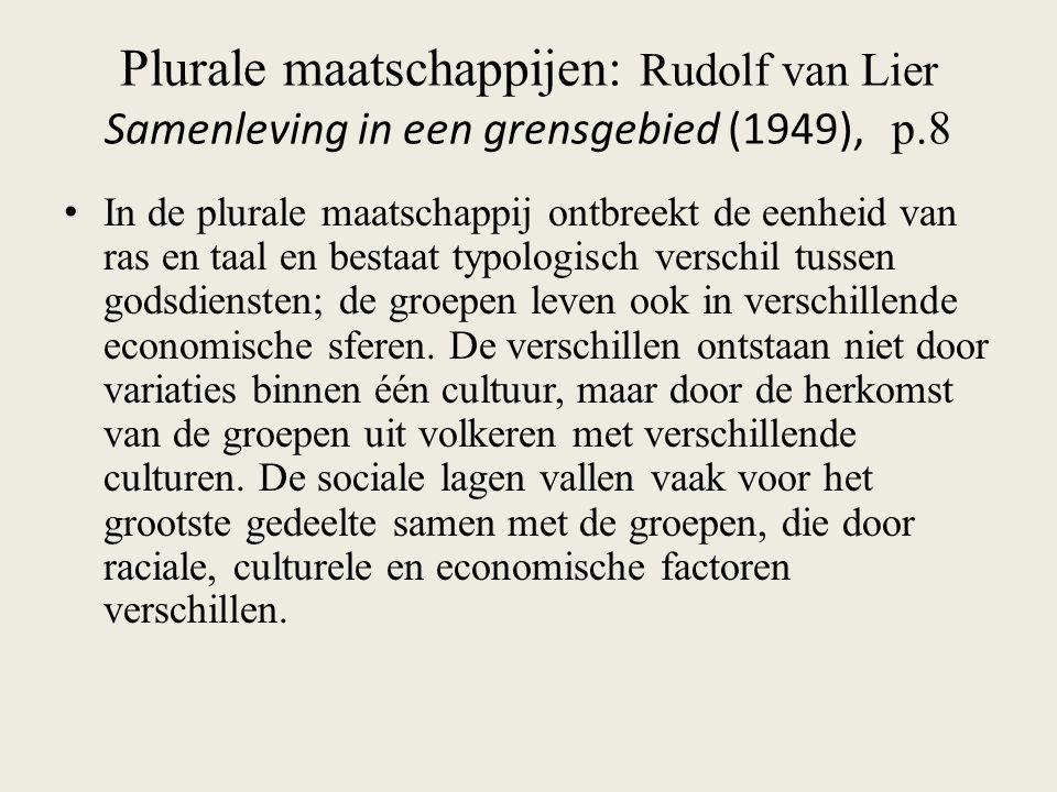 Plurale maatschappijen: Rudolf van Lier Samenleving in een grensgebied (1949), p.8