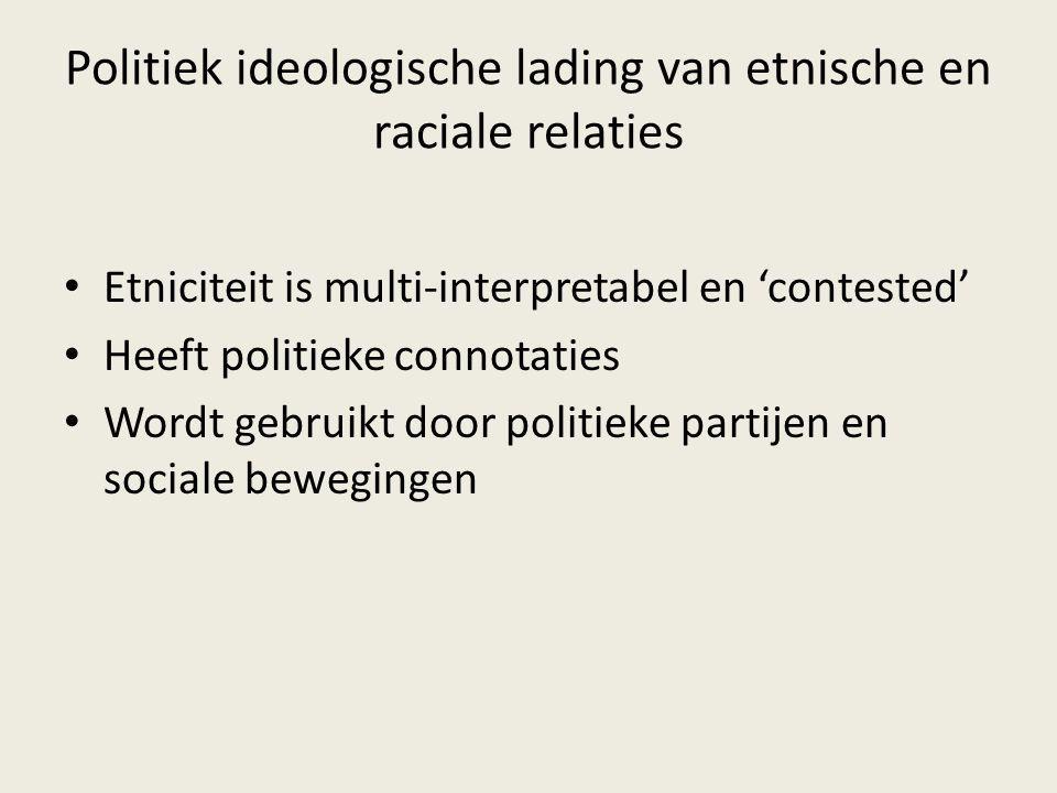 Politiek ideologische lading van etnische en raciale relaties