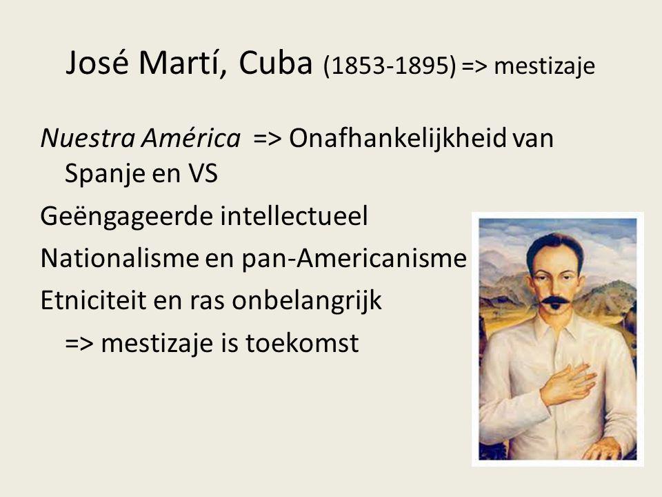 José Martí, Cuba (1853-1895) => mestizaje