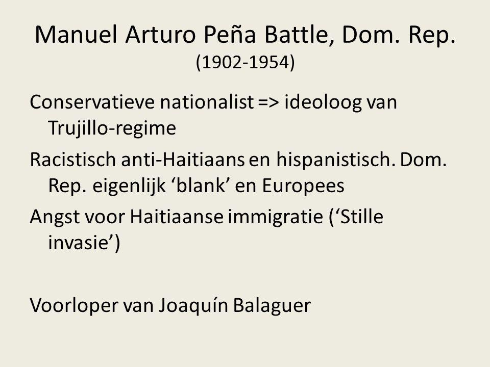 Manuel Arturo Peña Battle, Dom. Rep. (1902-1954)