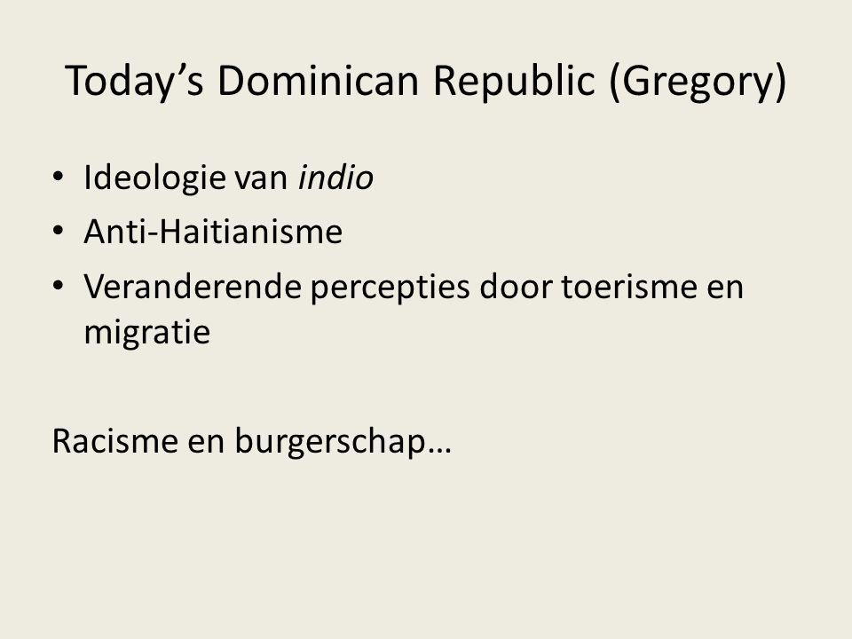 Today's Dominican Republic (Gregory)