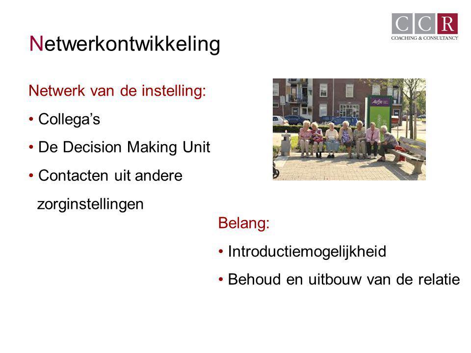 Netwerkontwikkeling Netwerk van de instelling: Collega's