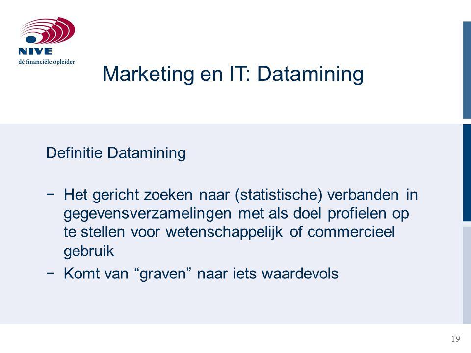 Marketing en IT: Datamining