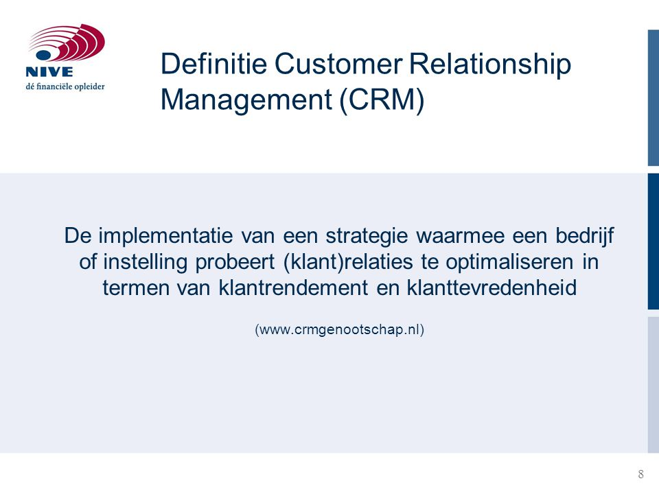 Definitie Customer Relationship Management (CRM)