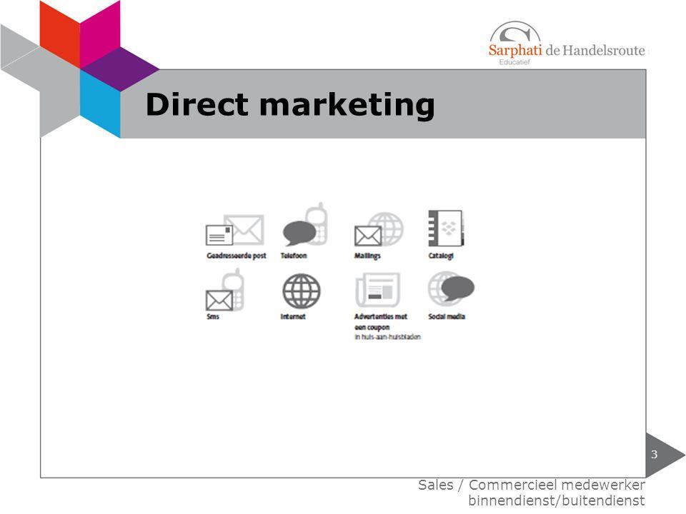 Direct marketing Sales / Commercieel medewerker binnendienst/buitendienst