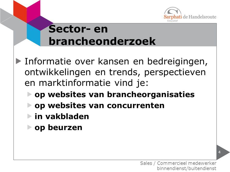 Sector- en brancheonderzoek