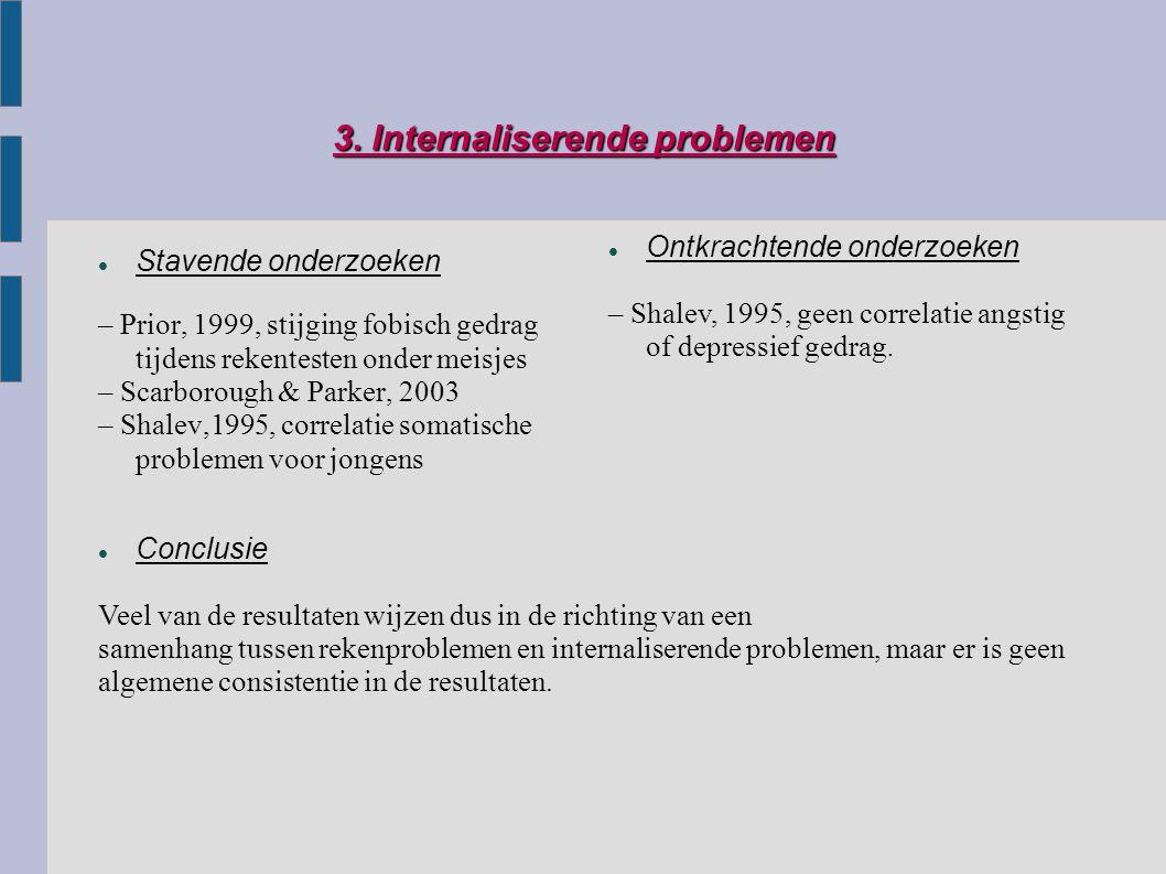 3. Internaliserende problemen