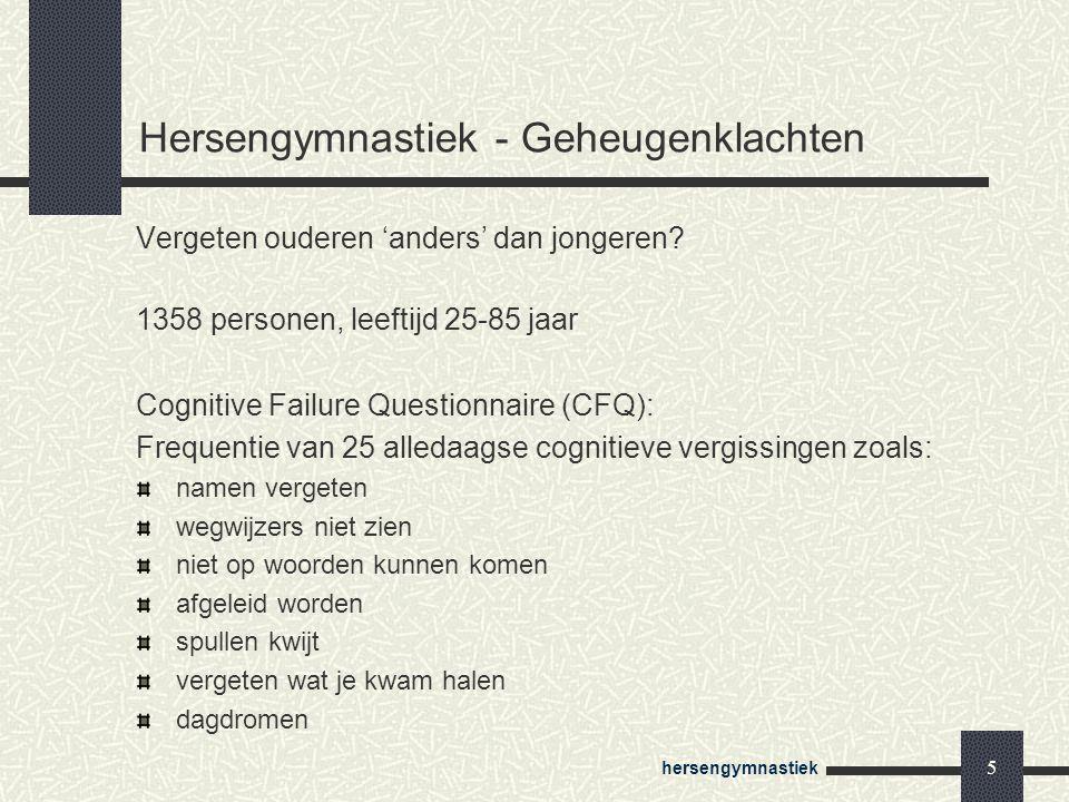 Hersengymnastiek - Geheugenklachten