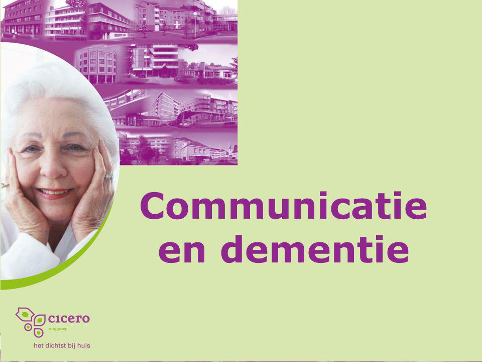 Communicatie en dementie