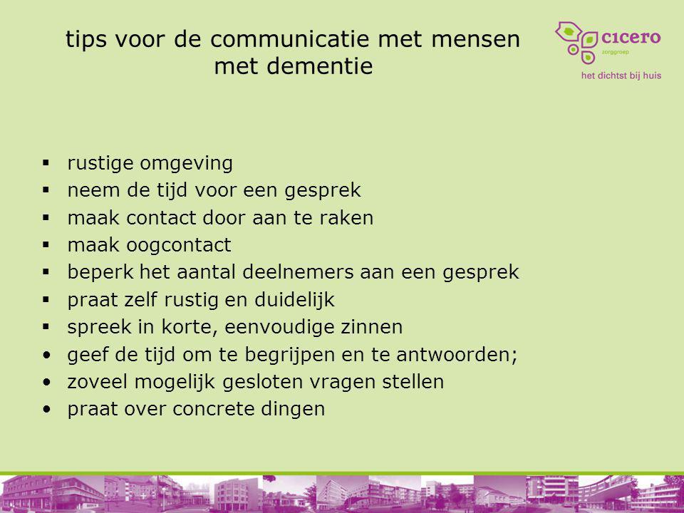 tips voor de communicatie met mensen met dementie
