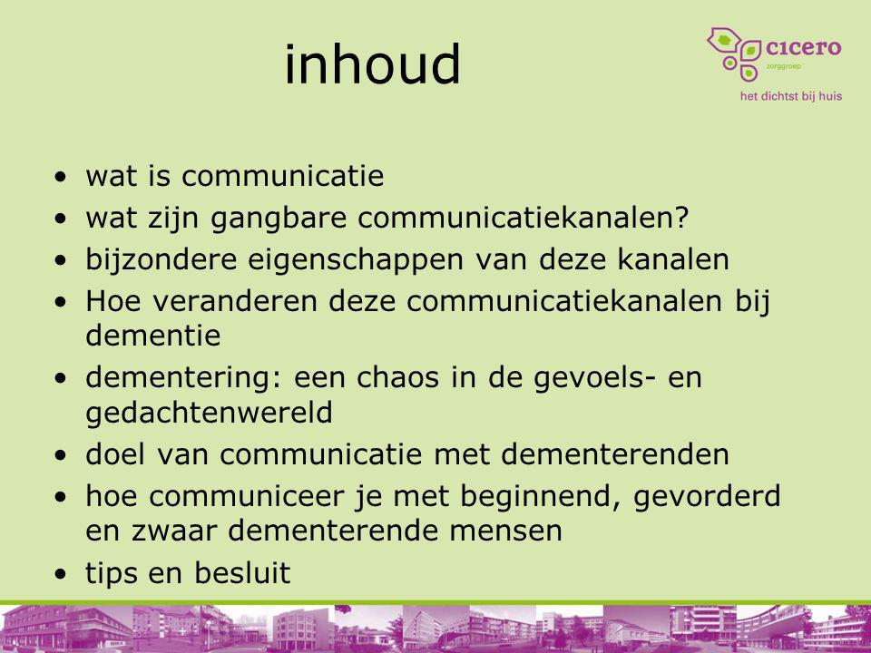 inhoud wat is communicatie wat zijn gangbare communicatiekanalen