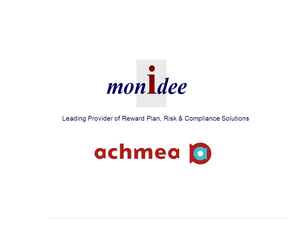 Leading Provider of Reward Plan, Risk & Compliance Solutions