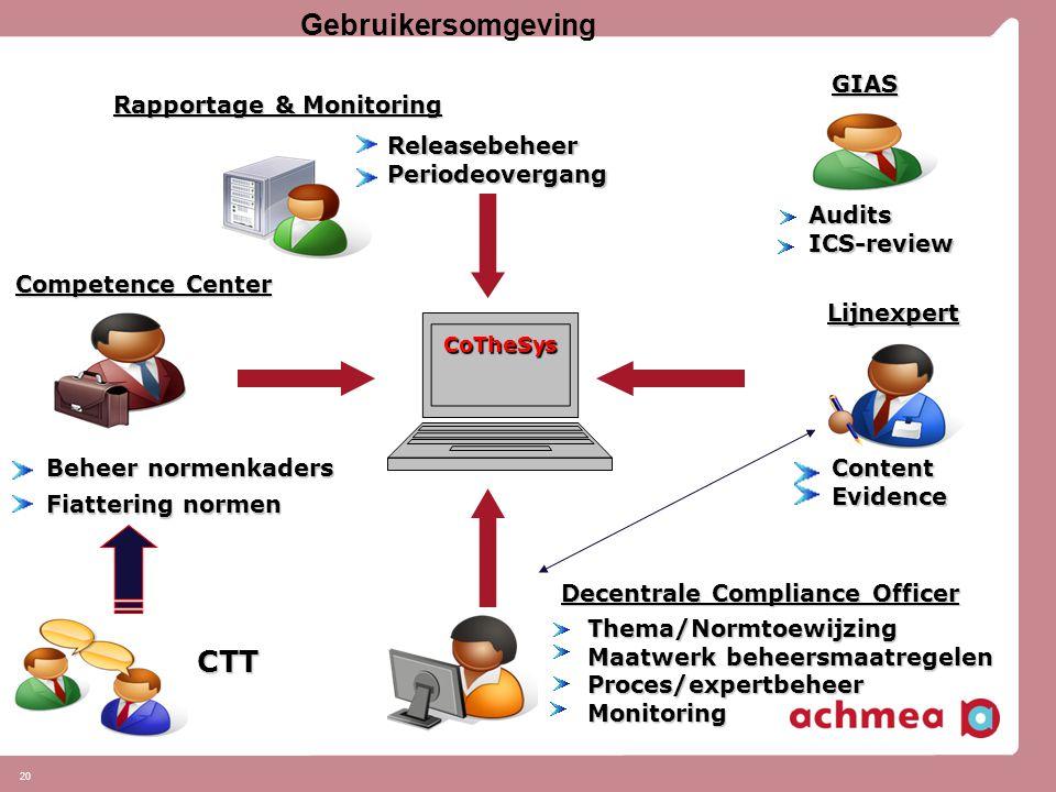 Gebruikersomgeving CTT GIAS Rapportage & Monitoring Releasebeheer
