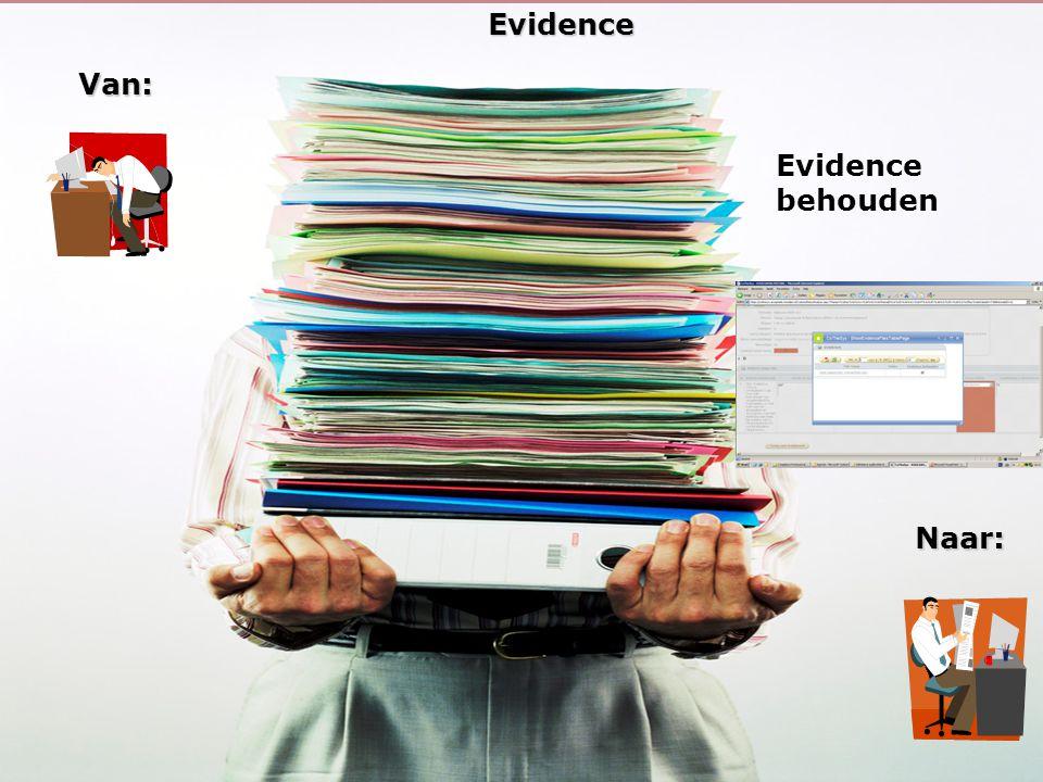 Evidence Van: Evidence behouden Naar: 26