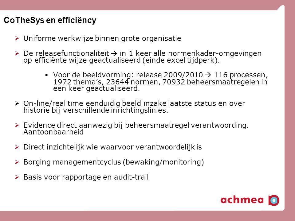 CoTheSys en efficiëncy