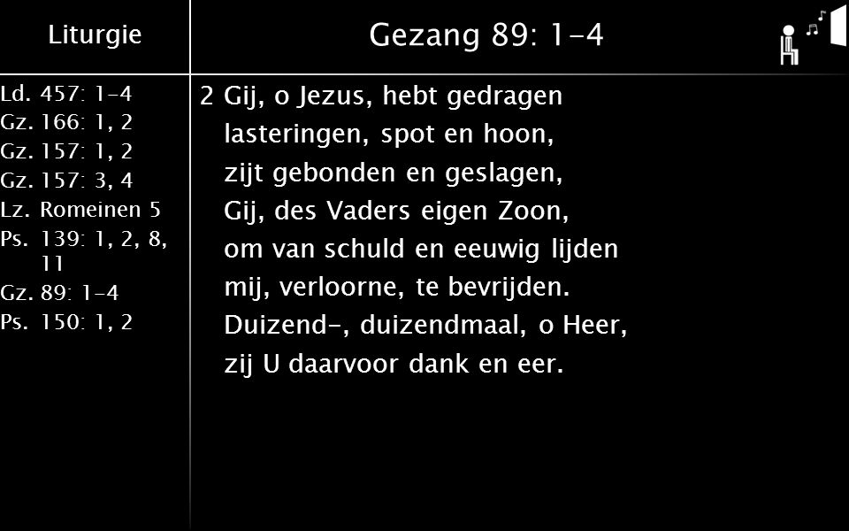 Gezang 89: 1-4