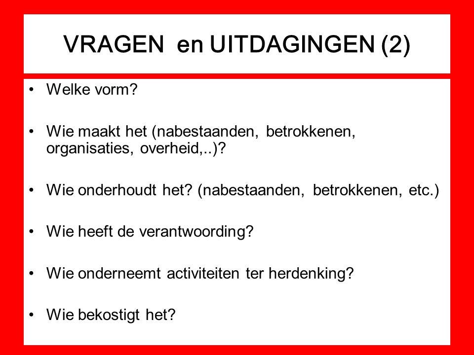 VRAGEN en UITDAGINGEN (2)