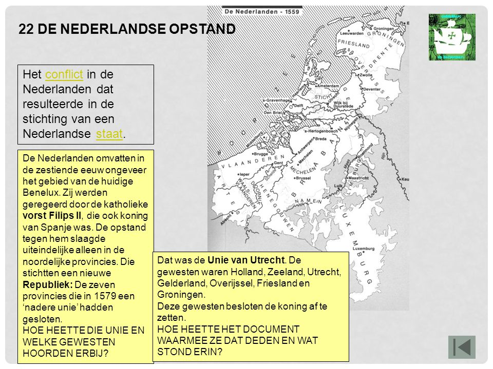 22 DE NEDERLANDSE OPSTAND