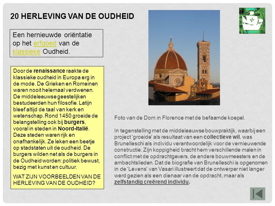 20 HERLEVING VAN DE OUDHEID