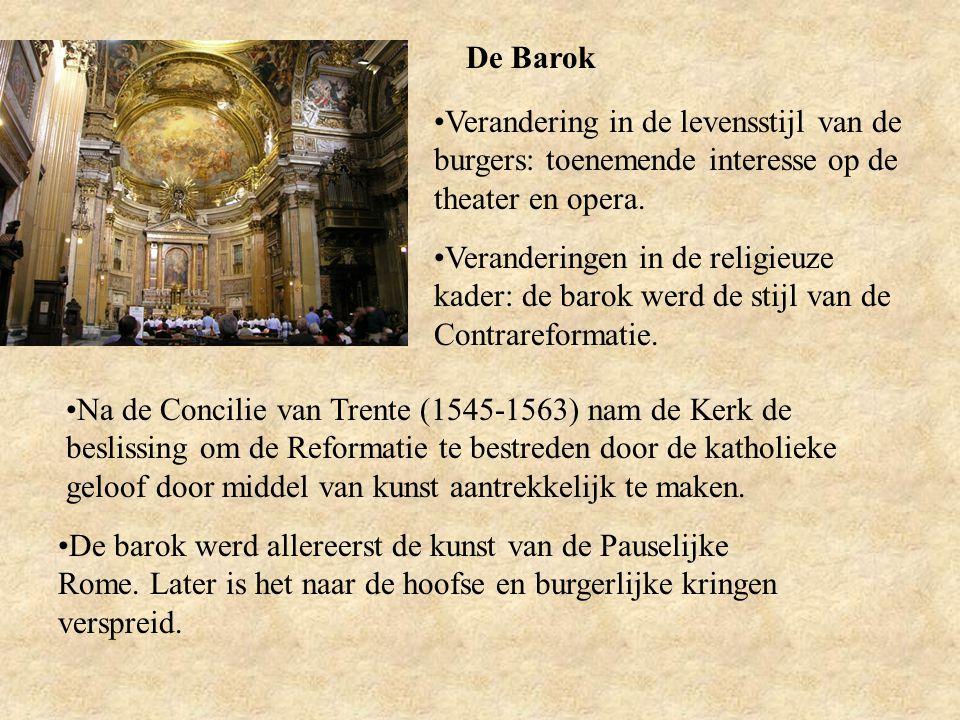De Barok Verandering in de levensstijl van de burgers: toenemende interesse op de theater en opera.