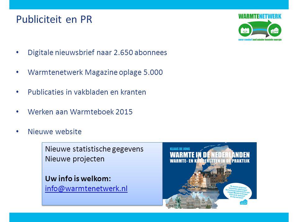 Publiciteit en PR Digitale nieuwsbrief naar 2.650 abonnees