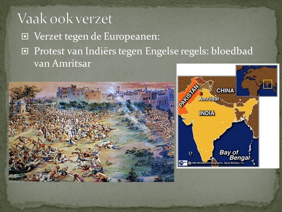 Vaak ook verzet Verzet tegen de Europeanen: