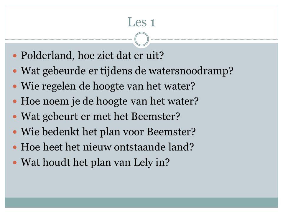 Les 1 Polderland, hoe ziet dat er uit