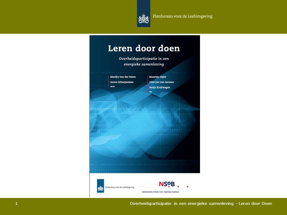 Overheidsparticipatie in een energieke samenleving - Leren door Doen