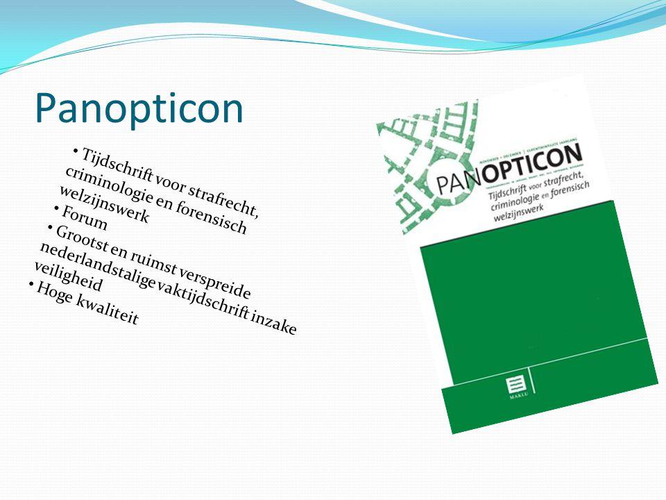 Panopticon Tijdschrift voor strafrecht, criminologie en forensisch welzijnswerk. Forum.