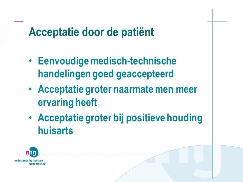 Acceptatie door de patiënt