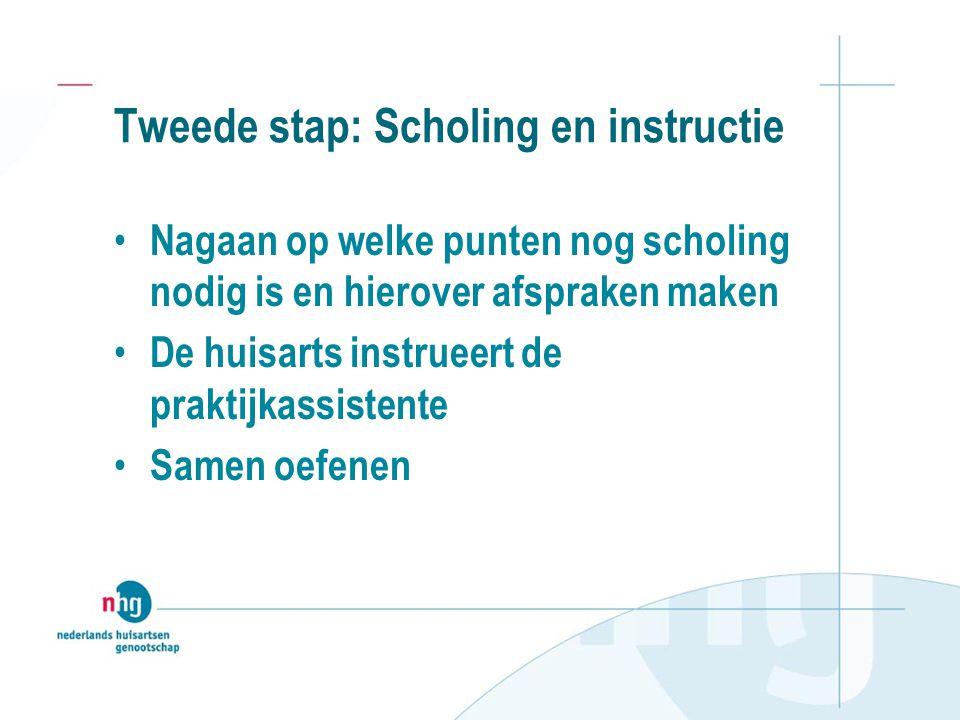 Tweede stap: Scholing en instructie