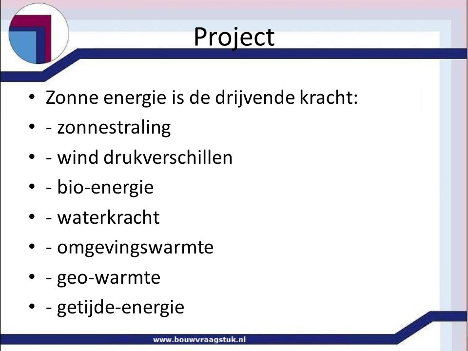 Project Zonne energie is de drijvende kracht: - zonnestraling