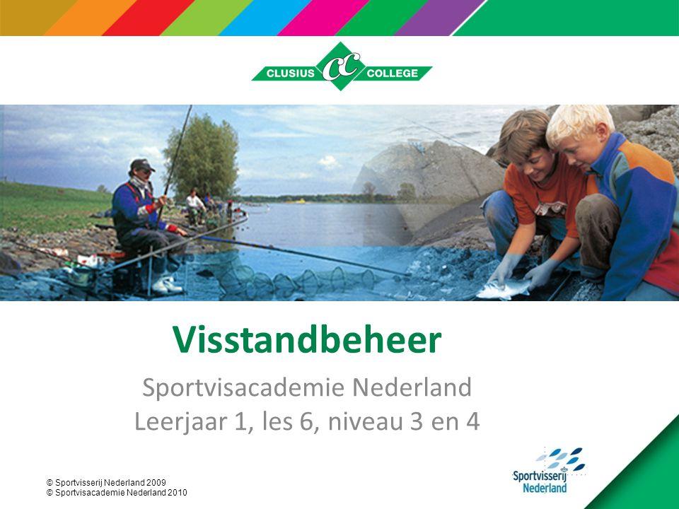 Sportvisacademie Nederland Leerjaar 1, les 6, niveau 3 en 4