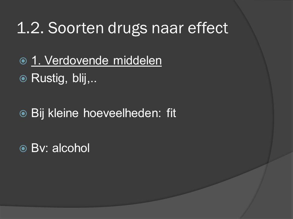 1.2. Soorten drugs naar effect