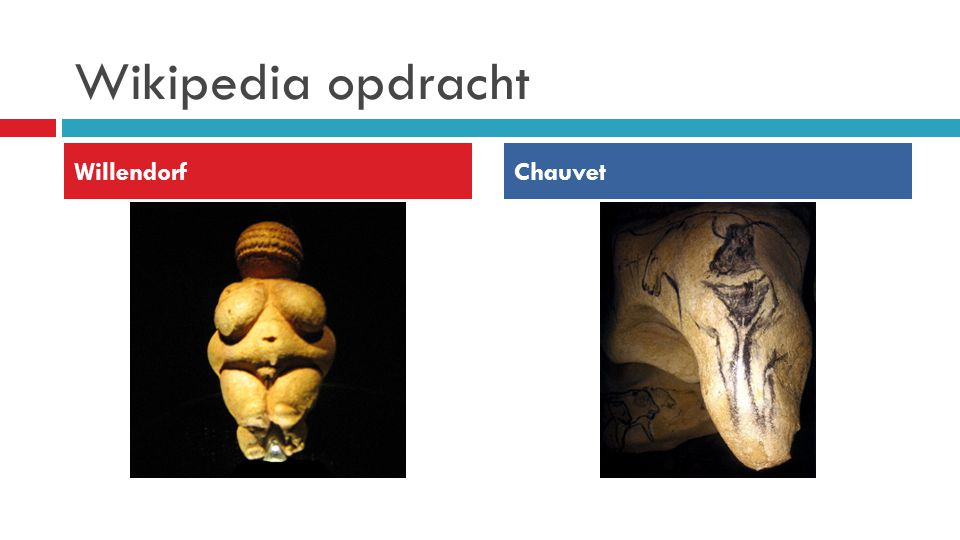 Wikipedia opdracht Willendorf Chauvet