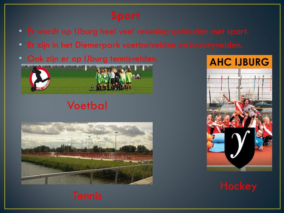 Sport Voetbal Hockey Tennis