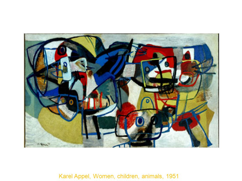 Karel Appel, Women, children, animals, 1951