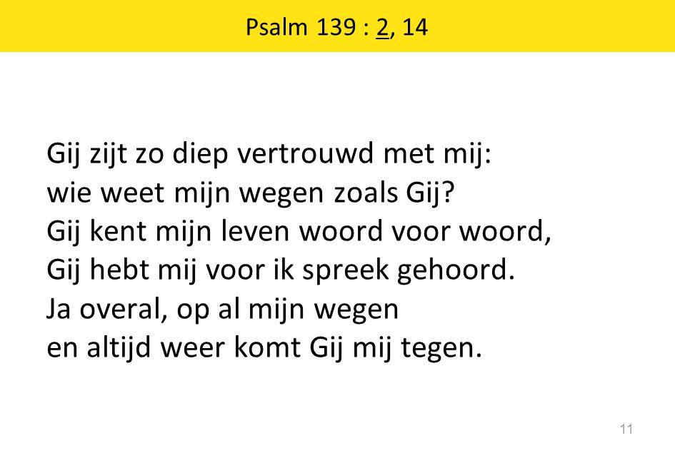 Psalm 139 : 2, 14