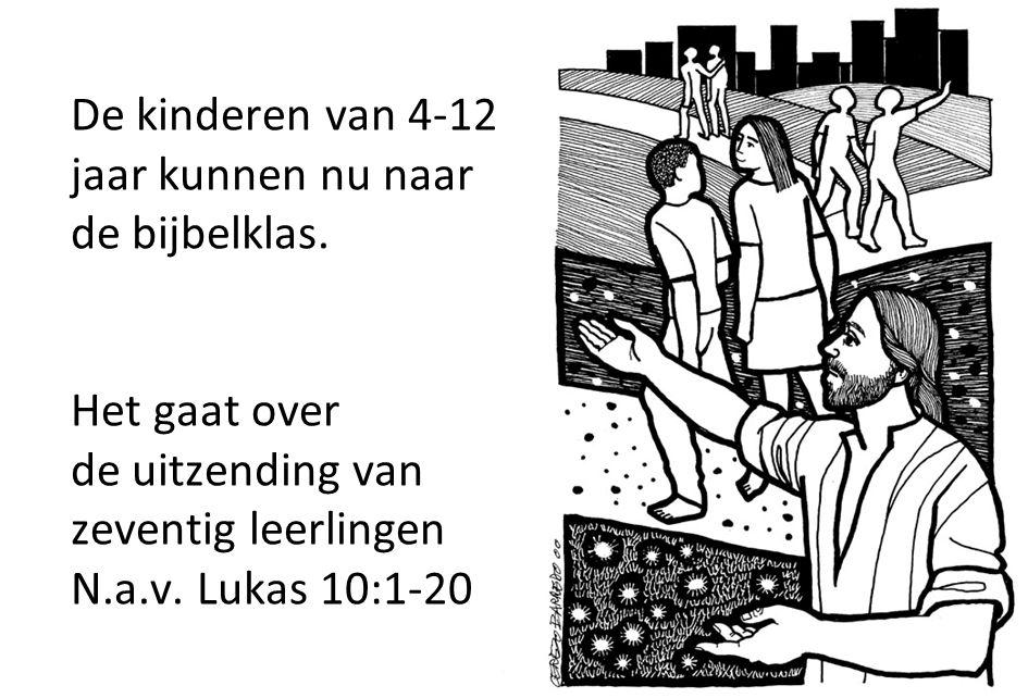 De kinderen van 4-12 jaar kunnen nu naar de bijbelklas
