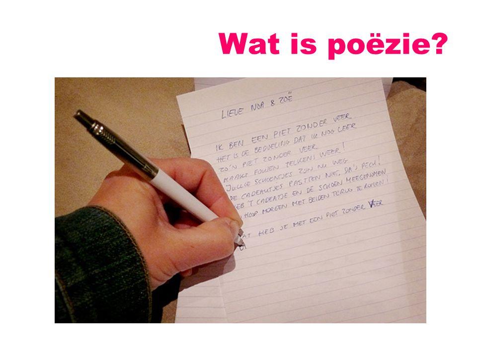Wat is poëzie