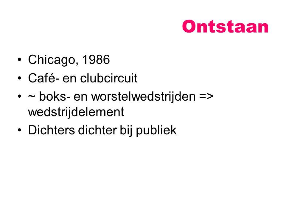 Ontstaan Chicago, 1986 Café- en clubcircuit