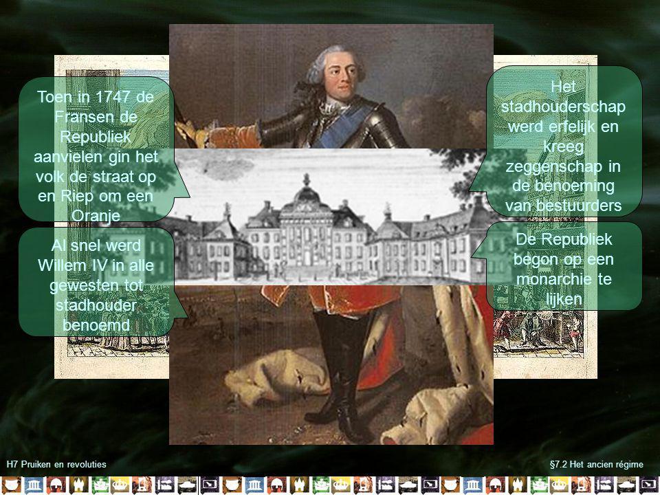 De Republiek begon op een monarchie te lijken