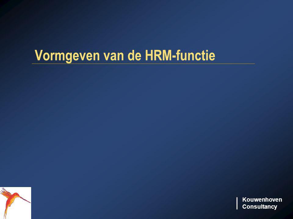 Vormgeven van de HRM-functie